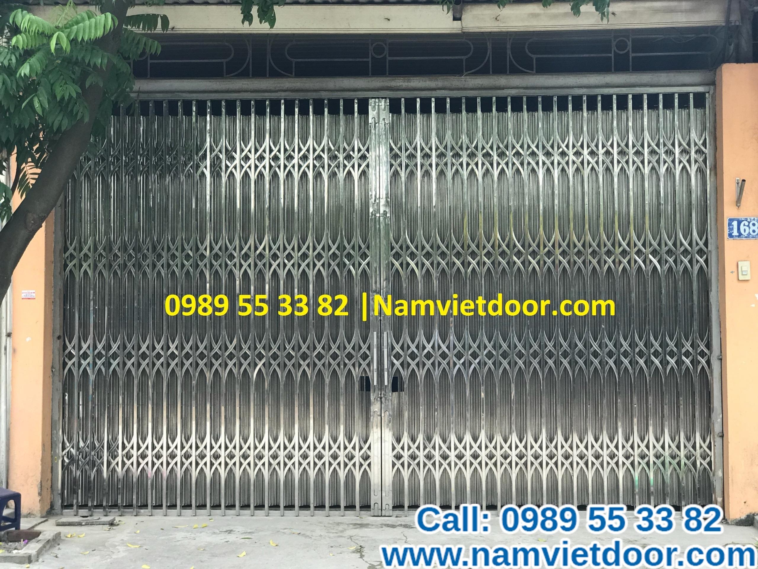 Cửa xếp INOX 304 cao cấp Đài Loan